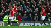 Wayne Rooney scored form the spot as Manchester United beat Sunderland 2-0 at Old Trafford. (Photo by Clive Brunskill/Getty Images)