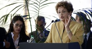 Brazil's President Dilma Roussef has become more isolated than ever in the presidential palace. Photograph: Carlos Pazos/Reuters