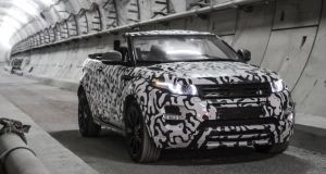 Land Rover announced the Evoque Convertible in the tunnels of London's Cross-Rail project.