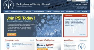 The Psychological Society of Ireland website.