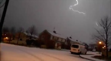 Power of nature: lightning strikes during Mayo blizzard