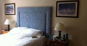Bedroom before staging: anything personal such as photographs, trinkets, political and religious paraphernalia should be stored away during viewing