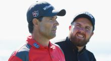 "Padraig Harrington and Shane Lowry: 'I played with him in Pebble Beach  and he wasn't playing that great,"" said Lowry. Photograph: Scott Halleran/Getty Images"