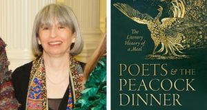 Lucy McDiarmid at the launch of her book Poets and the Peacock Dinner in Dublin in December. Photograph: Tony Kinlan