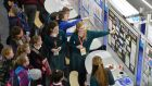 BT Young Scientist & Technology exhibition:   This week, 30 students who competed in this year's event underwent a four-day mentoring and skills bootcamp at UCD to help them turn their ideas into viable business propositions.   Photograph: Alan Betson / The Irish Times
