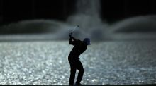 Rory McIlroy in action  during a practice round on the Blue Monster Course at Trump National Doral ahead of the WGC-Cadillac Championship in Florida. Photograph: David Cannon/Getty Images