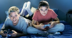 The sudy found that students who play one-player video games between once a month and almost every day perform better in mathematics, reading, science and problem solving, on average, than students who play one-player games every day. Photograph: Getty Images