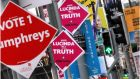 Electioneering costs money and parties still manage to raise substantial amounts of private funding. Photograph: Brenda Fitzsimons