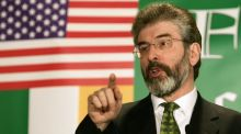 Sinn Féin President Gerry Adams speaking to supporters  on March 17th 2005 in Washington, DC, US. Photograph: Alex Wong/Getty Images
