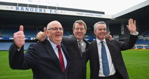 John Gilligan, Dave King and Paul Murray have been voted in to replace Derek llambias and Barry Leach at Rangers Photograph: Getty