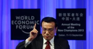 Prime minister Li Keqiang said China will lower the annual GDP growth target to about 7 per cent from 7.5 per cent, the slowest in 22 years. Photograph: Tomohiro Ohsumi/Bloomberg