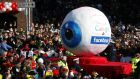 The German public is acutely conscious of data privacy issues, as this  carnival float with a  caricature representing Google and Facebook in a Duesseldorf parade highlights. Photograph: Ina Fassbender
