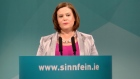 To sustained applause and cheers from delegates at the party's ardfheis in Derry, Sinn Féin deputy leader Mary Lou McDonald challenged Tánaiste Joan Burton to a debate, claiming the Labour leader had withdrawn her own call for a head-to-head.