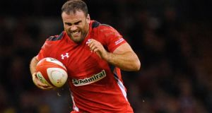 Jamie Roberts: is a different player in the Wales jersey – despite his less than spectacular sojourn wit Racing Metro. Photograph: Colm O'Neill/Inpho