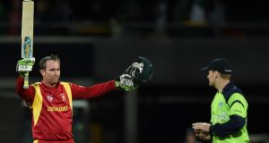 Zimbabwe batsman Brendan Taylor has apologised to the Irish team and John Mooney for comments in one of his nation's newspapers. Photograph: Indranil Mukherjee/AFP