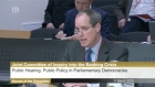 Professor David Farrell of UCD speaks to the Oireachtas inquiry into the banking crisis.