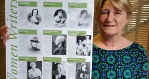 "Nothing new under the sun: Mary Shine with her Irish Women Writers, which she produced with her friend Vincent Kinane in 1999. ""I particularly remember, at that time, being very annoyed that no matter what bookshop or even coffee shop with a literary flavour I went into, all the posters, postcards and trappings about writers were of the same list of males."""
