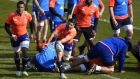 France's scrum half Sebastien Tillous Borde is one of eigth changes to their team for Italy clash. Photogarph: Franck Fife/Getty Images