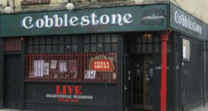 The Cobblestone in Smithfield: seven nights a week, twice on Sundays, you'll find a trad session under way in the corner seat