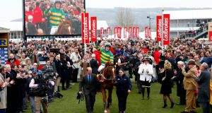 <b>MAN OF THE DAY </b><br> AP McCoy gets a thunderous reception  as he enters the winners&#39; enclosure following his victory in the Ryanair Chase. The 19-time champion jockey, who retires at the end of the season, secured his first win of this year&#39;s festival  on Uxizandre. Photo: Reuters/Eddie Keogh