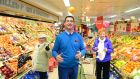 Bernard McNally, the owner of Supervalu in Clones, has seen an increase in buisness. Photograph: Ciara Wilkinson