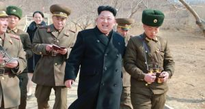 North Korean leader Kim Jong-un.  The leaders in Moscow and Pyongyang appear to have much in the way of common cause. Photograph: Reuters