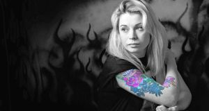 Emma Ray Tattoo artist photographed in her studio in Dundalk. Photograph: Brenda Fitzsimons