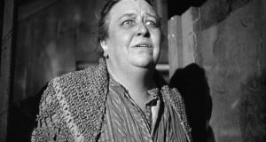 Jane Darwell as Ma Joad in John Ford's film version of The Grapes of Wrath by John Steinbeck. In the face of successive tragedies Ma Joad, aware that her husband is too defeated to lead the clan, takes over the responsibility and in doing so becomes one of the most powerful and sympathetic matriarchs in American literature.
