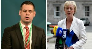 Sinn Féin TD Pearse Doherty (left) says the party will be taking legal advice in relation to the accusations that Fine Gael TD Regina Doherty (right) has made about its handling of sexual abuse claims. Photographs: The Irish Times.