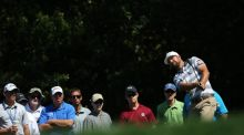 Ryan Moore plays a shot on the seventh hole during the third round of the Valspar Championship at Innisbrook. Photograph: Sam Greenwood/Getty Images