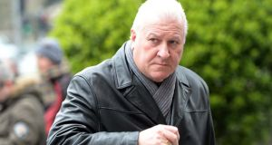 Ronan Collins at the funeral of radio DJ Tony Fenton. Photograph: Eric Luke