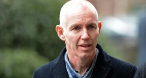 Ray D'Arcy at the funeral of radio DJ Tony Fenton. Photograph: Eric Luke