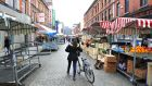 Trader stalls on Moore Street:  The council has decided to go ahead with its improvement scheme. Photograph: Aidan Crawley/The Irish Times