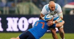 Italy captain Sergio Parisse is a doubt for their concluding Six Nations game against Wales. Photograph: Andrew Boyers/Reuters.