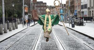 St Patrick's Day is expected to be cool and mainly dry with maximum temperatures of 8 to 11 degrees. Photograph: Brenda Fitzsimons / The Irish Times
