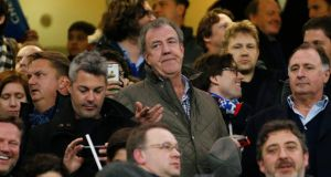 Jeremy Clarkson at Stamford Bridge before a recent Chelsea match. Photograph: John Sibley/Reuters