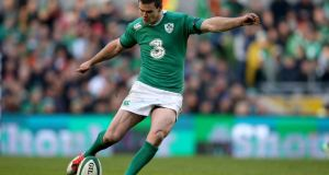 Ireland outhalf Johnny Sexton: through the first three rounds of this season's he had had a 91 per cent kicking success rate. Photograph: Inpho