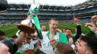 Henry Shefflin celebrates with fans of Ballyhale Shamrocks after the All-Ieland club final victory over Kilmallock. Photo: Cathal Noonan/Inpho