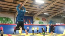 Jump Zone in  south Dublin: 'If the children were anything to go by, then that brief ascent, in which you dominate gravity and float for a breathless moment in midair, produces a frenzied sort of joy.'