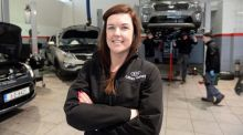 Jennifer Tobin, Service Advisor at Kia Liffey Valley, Dublin. Photograph: Eric Luke / The Irish Times