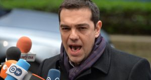 GreekPrime Minister Alexis Tsipras: lambasted Declan Costello for writing a letter to the Greeks in which he appeared to put pressure on the country to stall a parliamentary vote on a suite of anti-poverty measures.  Photograph: EPA/Stephanie Lecocq