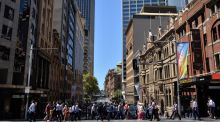 Downtown Sydney: while the IMF is concerned the housing market in Australia is overheating, experts point to the 'natural rise in capital city property'. Photograph: Saeed Khan/AFP/Getty Images