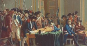 Portrait of the arrest & wounding of  Maximilien Robespierre. Photograph:  Time Life Pictures/Mansell/Time Life Pictures/Getty Images