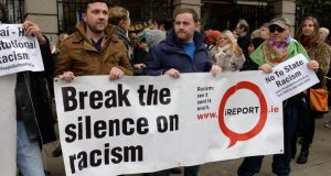 An Enar rally in Dublin: Enar received reports of 182 incidents of racist verbal abuse, violence, discrimination and other attacks between July and December 2014. File photograph: Eric Luke/The Irish Times