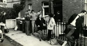 A union demonstration by students in the 1980s over student accommodation