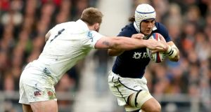 Scotland's openside Blair Cowan:  a massive penalty offender. Photograph: James Crombie/Inpho
