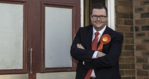 Portable politician: Armagh-born Conor McGinn at Windle Labour Club, in St Helens