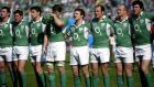 From left: Denis Leamy, Ronan O'Gara, David Wallace, Simon Easterby, Gordon D'Arcy, Girvan Dempsey, Denis Hickie and Shane Horgan on St Patrick's Day 2007 as Ireland took on Italy in Stadio Olimpico. Photograph: INPHO/Dan Sheridan