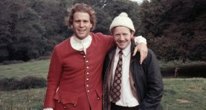 Actor Ryan O'Neill with Pat Heavin on the set of 'Barry Lyndon' in 1973. Photograph: Stanley Kubrick