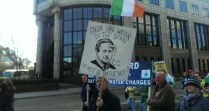 Protesters began marching from three points across Dublin. Photograph: Pamela Duncan